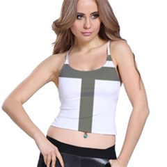 Cross Of Lorraine  Spaghetti Strap Bra Top