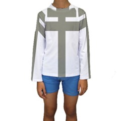 Cross Of Lorraine  Kids  Long Sleeve Swimwear