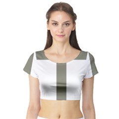 Cross Of Lorraine  Short Sleeve Crop Top (tight Fit)