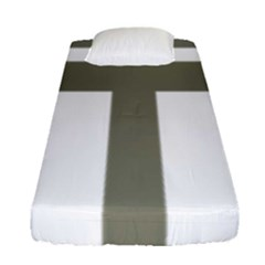 Cross Of Lorraine  Fitted Sheet (single Size)