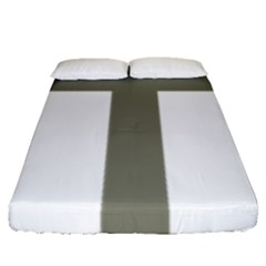 Cross Of Lorraine  Fitted Sheet (queen Size)