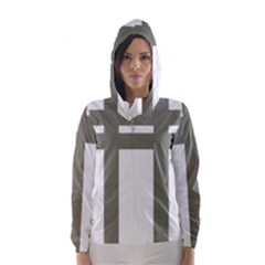 Cross Of Lorraine  Hooded Wind Breaker (women)