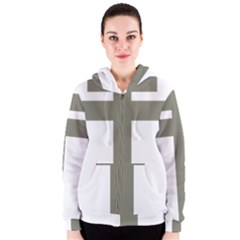 Cross Of Lorraine  Women s Zipper Hoodie