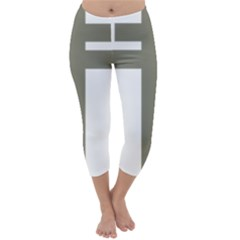 Cross Of Lorraine  Capri Winter Leggings