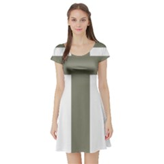 Cross Of Lorraine  Short Sleeve Skater Dress