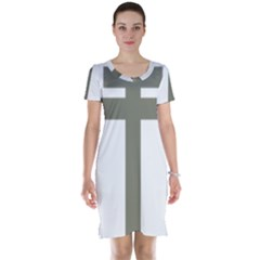 Cross Of Lorraine  Short Sleeve Nightdress