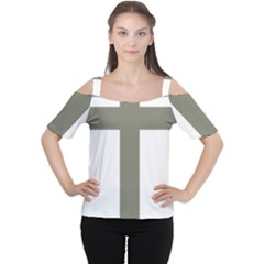 Cross Of Lorraine  Women s Cutout Shoulder Tee