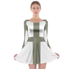Cross Of Lorraine  Long Sleeve Skater Dress