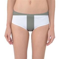 Cross Of Lorraine  Mid Waist Bikini Bottoms