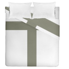 Cross Of Lorraine  Duvet Cover Double Side (queen Size)