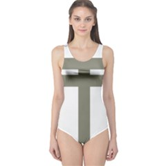 Cross Of Lorraine  One Piece Swimsuit