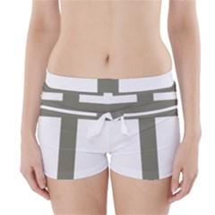 Cross of Lorraine  Boyleg Bikini Wrap Bottoms