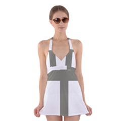Cross Of Lorraine  Halter Swimsuit Dress