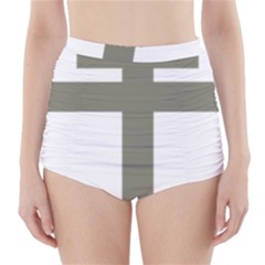 Cross Of Lorraine  High Waisted Bikini Bottoms