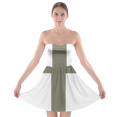 Cross Of Lorraine  Strapless Bra Top Dress