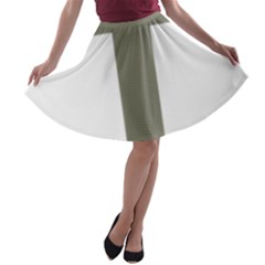 Cross Of Lorraine  A Line Skater Skirt