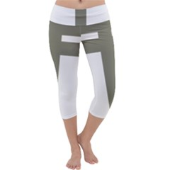 Cross of Lorraine  Capri Yoga Leggings