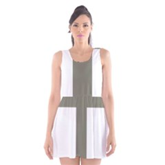 Cross of Lorraine  Scoop Neck Skater Dress