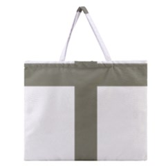 Cross Of Lorraine  Zipper Large Tote Bag