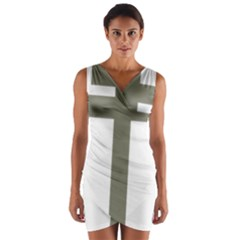 Cross Of Lorraine  Wrap Front Bodycon Dress