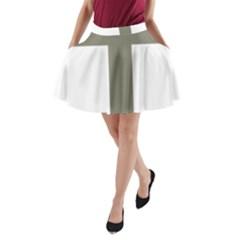 Cross Of Lorraine  A Line Pocket Skirt