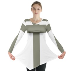 Cross Of Lorraine  Long Sleeve Tunic