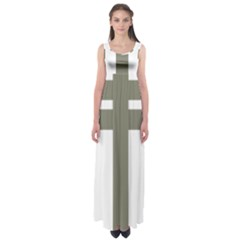Cross Of Lorraine  Empire Waist Maxi Dress