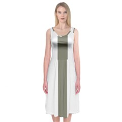 Cross Of Lorraine  Midi Sleeveless Dress