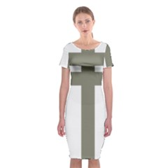 Cross Of Lorraine  Classic Short Sleeve Midi Dress