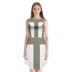 Cross of Lorraine  Sleeveless Chiffon Dress