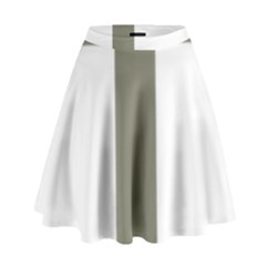 Cross of Lorraine  High Waist Skirt