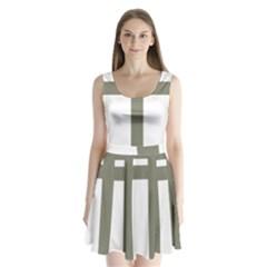Cross Of Lorraine  Split Back Mini Dress