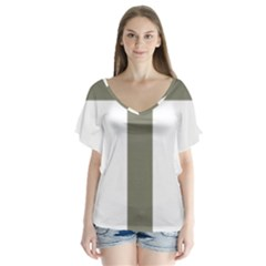 Cross Of Lorraine  Flutter Sleeve Top