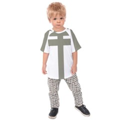 Cross Of Lorraine  Kids  Raglan Tee