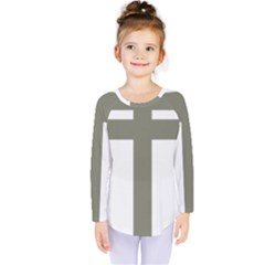 Cross Of Lorraine  Kids  Long Sleeve Tee