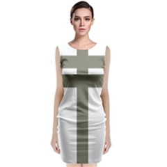 Cross Of Lorraine  Sleeveless Velvet Midi Dress