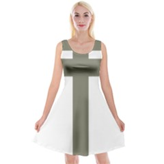 Cross Of Lorraine  Reversible Velvet Sleeveless Dress