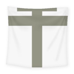 Cross Of Lorraine  Square Tapestry (large)