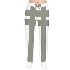 Cross Of Lorraine  Drawstring Pants