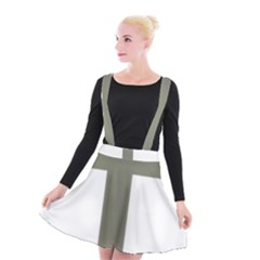 Cross Of Lorraine  Suspender Skater Skirt