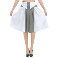 Cross Of Lorraine  Flared Midi Skirt