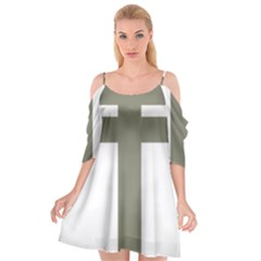 Cross Of Lorraine  Cutout Spaghetti Strap Chiffon Dress