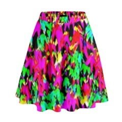 Colorful Leaves High Waist Skirt