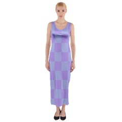 Pattern Fitted Maxi Dress