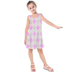 Plaid Pattern Kids  Sleeveless Dress