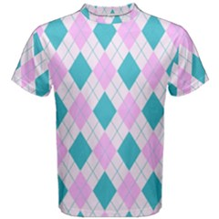 Plaid pattern Men s Cotton Tee