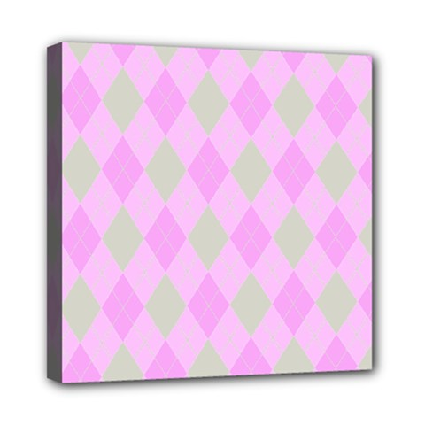 Plaid Pattern Mini Canvas 8  X 8