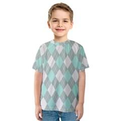 Plaid pattern Kids  Sport Mesh Tee