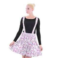 Plaid Pattern Suspender Skater Skirt
