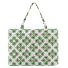 Floral Collage Pattern Medium Zipper Tote Bag